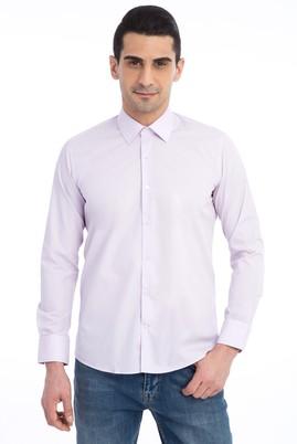 Erkek Giyim - Lila M Beden Uzun Kol Slim Fit Gömlek