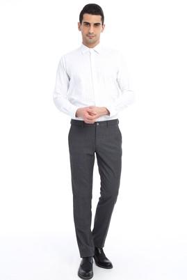 Erkek Giyim - ORTA FÜME 64 Beden Ekose Flanel Pantolon
