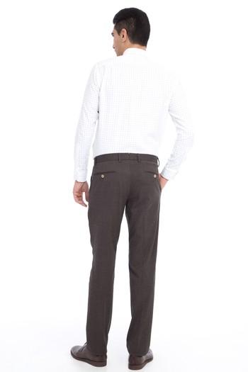 Erkek Giyim - Ekose Flanel Pantolon