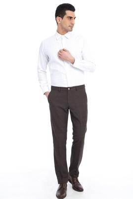 Erkek Giyim - Kahve 48 Beden Ekose Flanel Pantolon