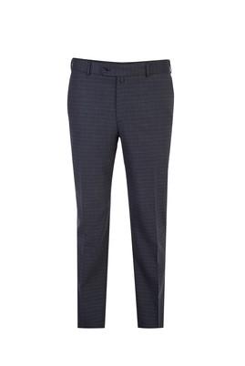 Erkek Giyim - Antrasit 50 Beden Ekose Klasik Pantolon