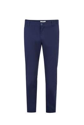Erkek Giyim - KOYU MAVİ 48 Beden Desenli Spor Pantolon