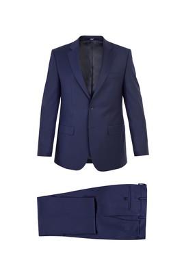 Erkek Giyim - KOYU MAVİ 68 Beden Klasik Yünlü Takım Elbise