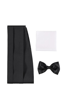 Erkek Giyim - Siyah STD Beden Papyon Takımı