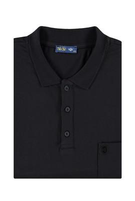 Erkek Giyim - Siyah 4X Beden King Size Polo Yaka Süprem Tişört