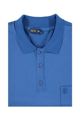 Erkek Giyim - Mavi 7X Beden King Size Polo Yaka Süprem Tişört