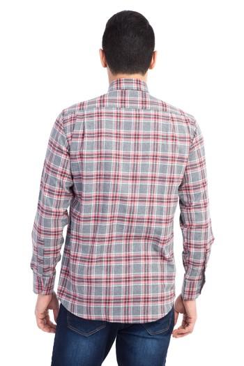 Erkek Giyim - Uzun Kol Oduncu Ekose Gömlek