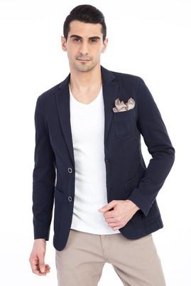 Erkek Giyim - Lacivert 52 Beden Yıkamalı Spor Ceket