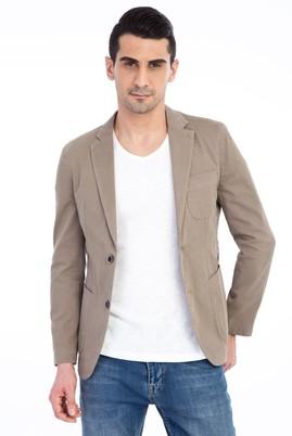 Erkek Giyim - VİZON 48 Beden Yıkamalı Spor Ceket