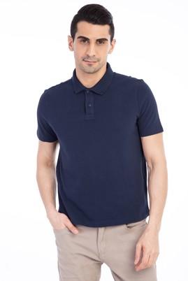Erkek Giyim - Lacivert XL Beden Regular Fit Polo Yaka Tişört