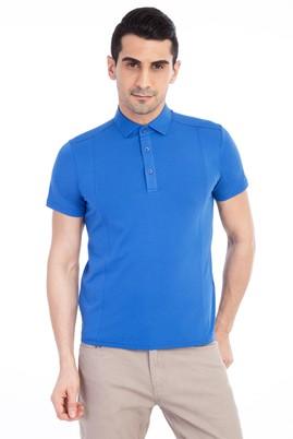 Erkek Giyim - Mavi S Beden Polo Yaka Slim Fit Tişört