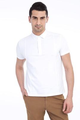 Erkek Giyim - Beyaz XXL Beden Polo Yaka Slim Fit Tişört