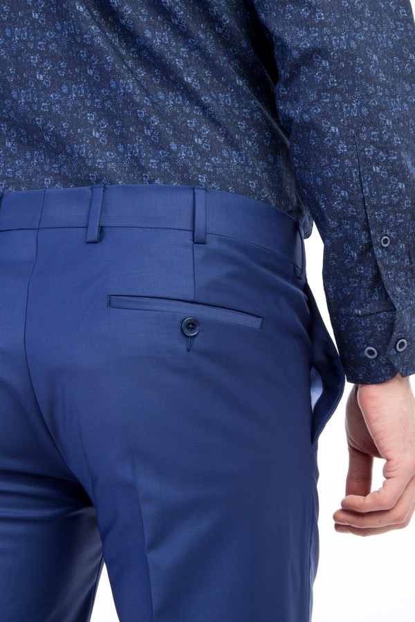 Slim Fit Yünlü Klasik Pantolon