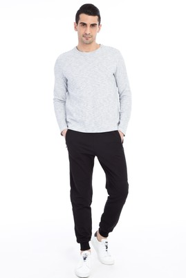 Erkek Giyim - Siyah S Beden Spor Sweatpant / Eşofman