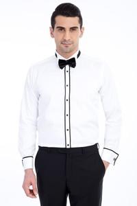 Erkek Giyim - Ata Yaka Saten Gömlek