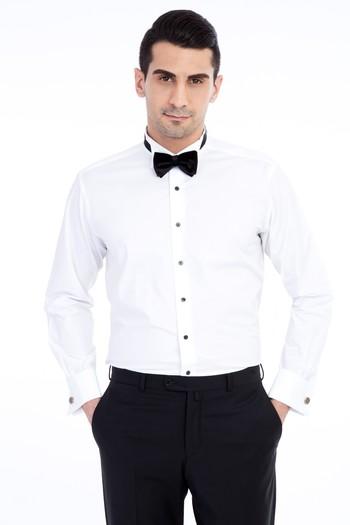 Erkek Giyim - Uzun Kol Ata Yaka Gömlek