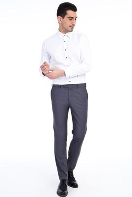 Erkek Giyim - Orta füme 48 Beden Slim Fit Klasik Pantolon