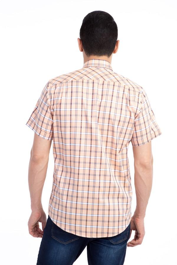 King Size Kısa Kol Ekose Klasik Gömlek