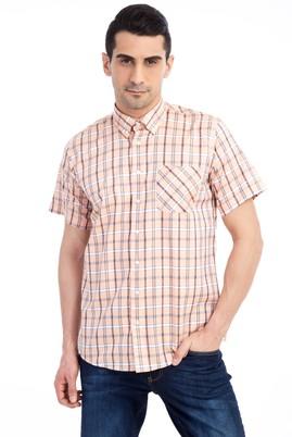 Erkek Giyim - MELON 4X Beden King Size Kısa Kol Ekose Klasik Gömlek