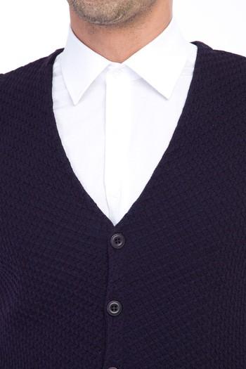 Erkek Giyim - Yünlü Desenli Yelek