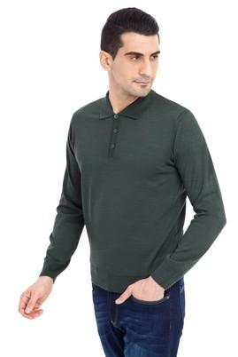 Erkek Giyim - ACIK YESIL M Beden Polo Yaka Triko Kazak