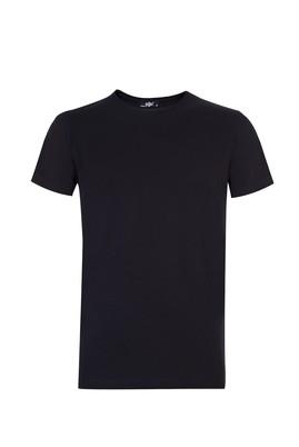 Erkek Giyim - Siyah XL Beden Bisiklet Yaka Sevgililer Günü Tişört