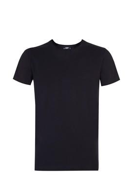 Erkek Giyim - Siyah L Beden V Yaka Sevgililer Günü Tişört