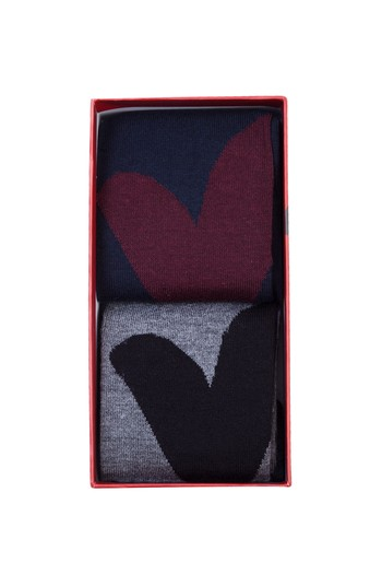 Erkek Giyim - 2'li Sevgililer Günü Çorabı