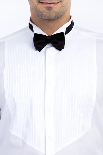 Erkek Giyim - Ata Yaka Saten Slim Fit Gömlek