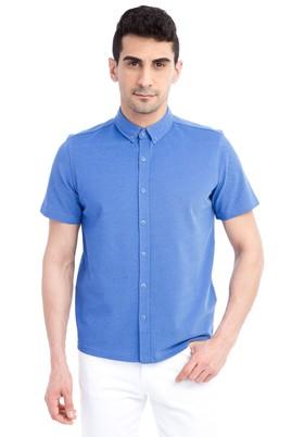 Erkek Giyim - Mavi XL Beden Regular Fit Polo Yaka Tişört / Gömlek
