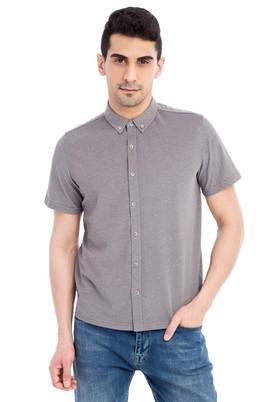 Erkek Giyim - VİZON L Beden Regular Fit Polo Yaka Tişört / Gömlek