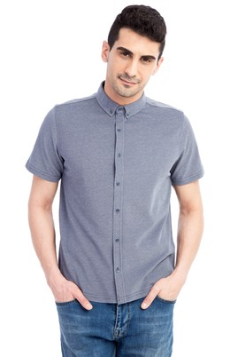 Erkek Giyim - Lacivert XL Beden Regular Fit Polo Yaka Tişört / Gömlek