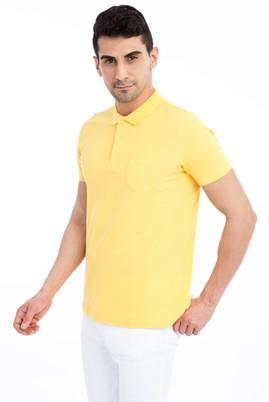 Erkek Giyim - Sarı L Beden Regular Fit Polo Yaka Tişört