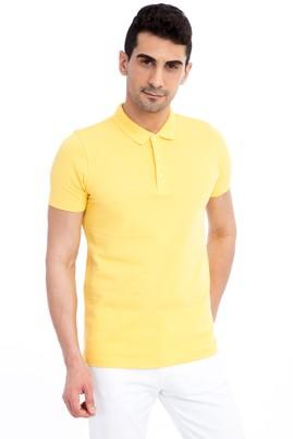 Erkek Giyim - Sarı XXL Beden Regular Fit Polo Yaka Tişört