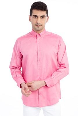 Erkek Giyim - Pembe L Beden Uzun Kol Spor Gömlek