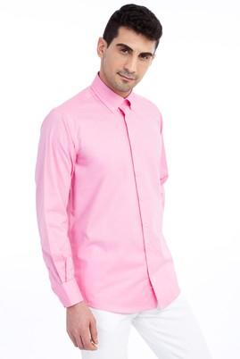 Erkek Giyim - Pembe M Beden Uzun Kol Spor Gömlek