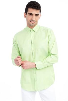 Erkek Giyim - Acık Yesıl L Beden Uzun Kol Spor Gömlek