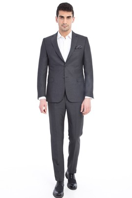 Erkek Giyim - Orta füme 52 Beden Kuşgözü Takım Elbise