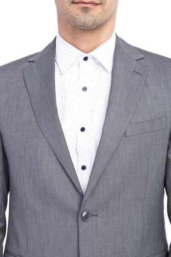 Erkek Giyim - Regular Fit Kuşgözü Takım Elbise