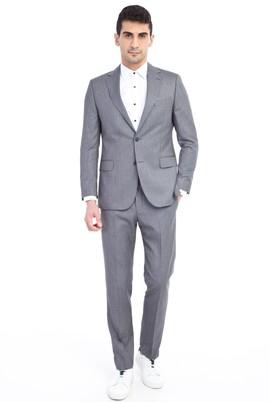 Erkek Giyim - Açık Gri 52 Beden Kuşgözü Takım Elbise