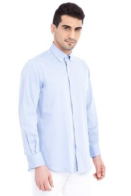 Erkek Giyim - Açık Mavi XL Beden Uzun Kol Düz Gömlek