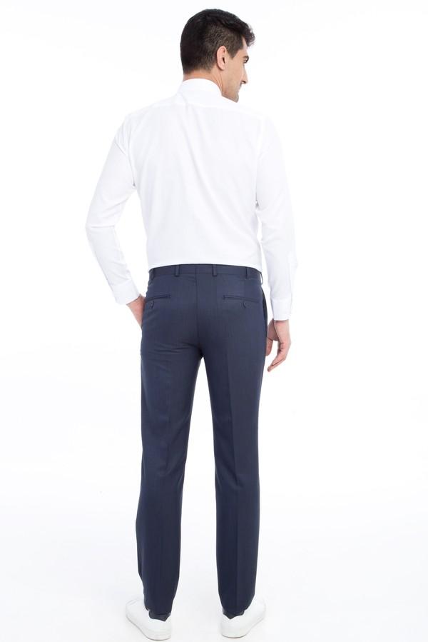 Slim Fit Klasik Desenli Pantolon