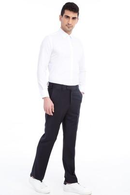 Erkek Giyim - Lacivert 56 Beden Klasik Desenli Pantolon
