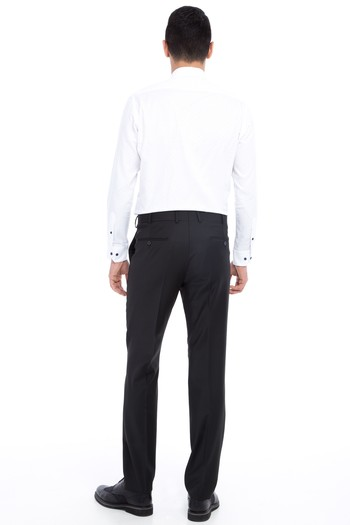 Erkek Giyim - Yünlü Klasik Desenli Pantolon