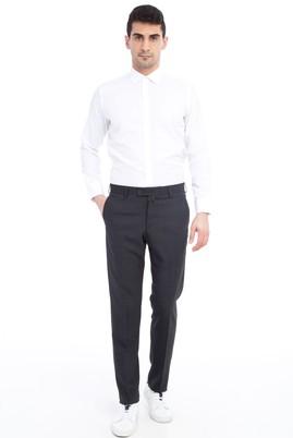 Erkek Giyim - Antrasit 52 Beden Klasik Desenli Pantolon