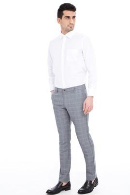 Erkek Giyim - Orta füme 50 Beden Spor Kareli Pantolon