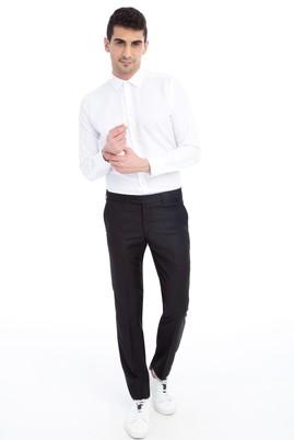 Erkek Giyim - Siyah 48 Beden Slim Fit Klasik Pantolon