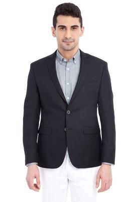 Erkek Giyim - Siyah 50 Beden Klasik Blazer Ceket