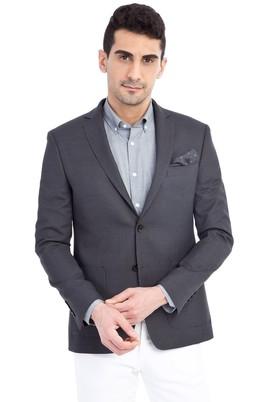Erkek Giyim - Antrasit 56 Beden Klasik Kuşgözü Ceket