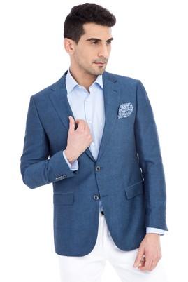 Erkek Giyim - Mavi 48 Beden Klasik Kuşgözü Ceket